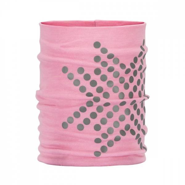 Bilde av Morild Sølvfaks hals i ull med refleks lys rosa